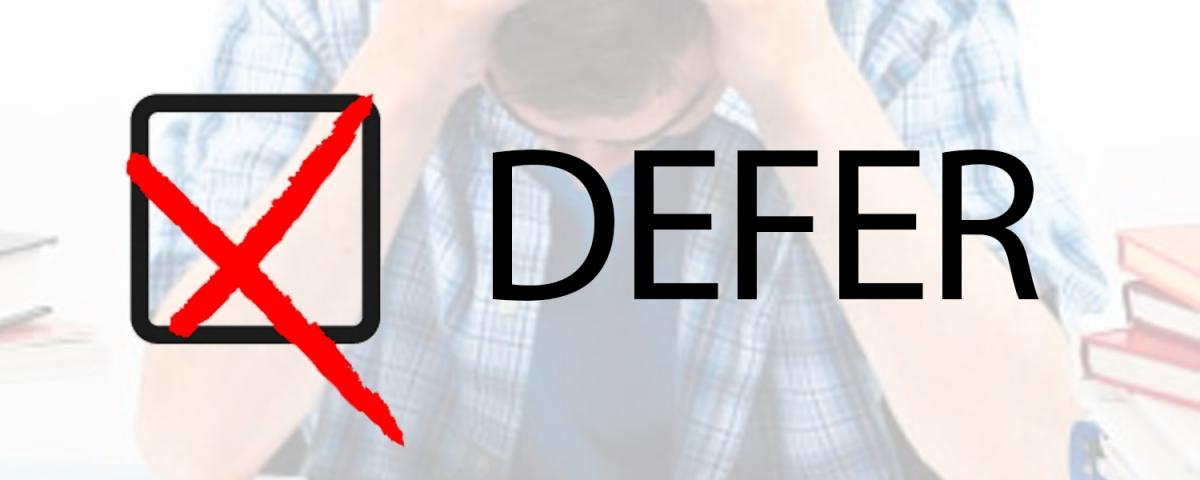 College Deferral Letter, EdNet Consultants